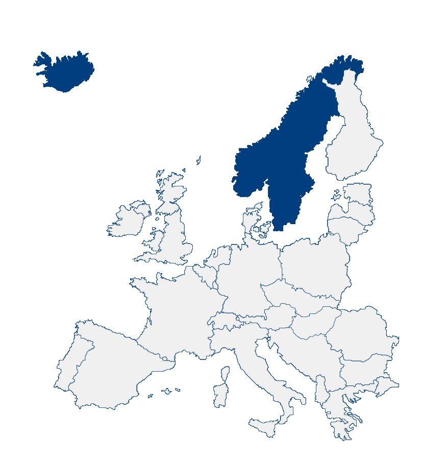 Vertretung Island, Norwegen und Schweden