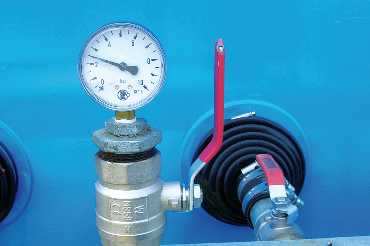 Anzeige Wasserdruck