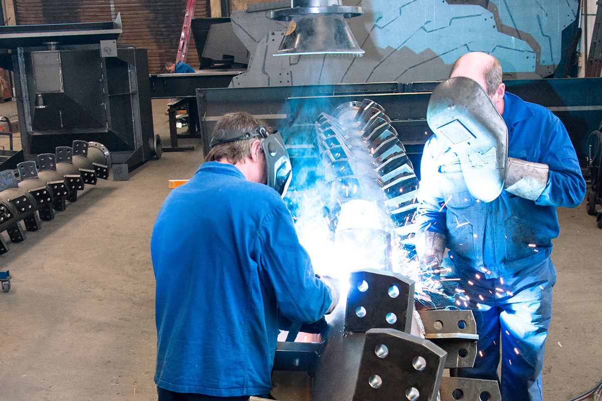 Welding at WIMA